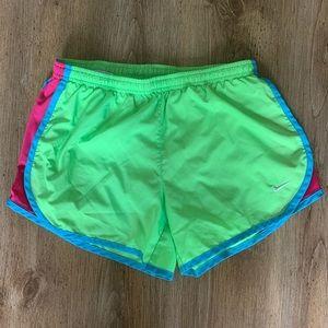 Girls Green/Pink Nike Shorts